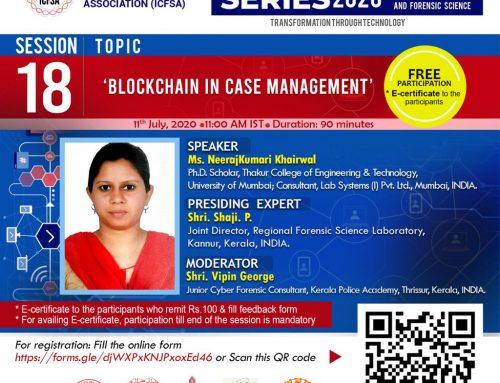Webinar on Blockchain in Case management