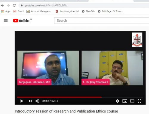 ONLINE COURSE ON RESEARCH AND PUBLICATION ETHICS.