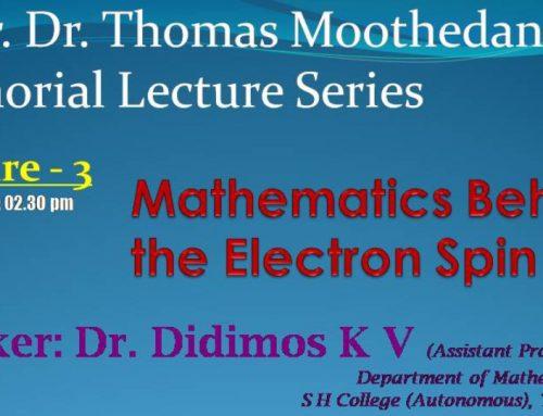 Msgr. Dr. Thomas Moothedan Memorial Lecture Series