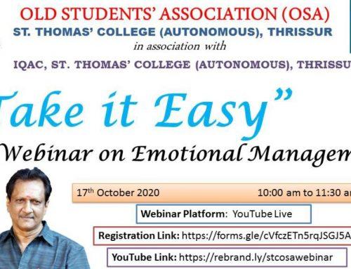 Webinar on Emotional Management.