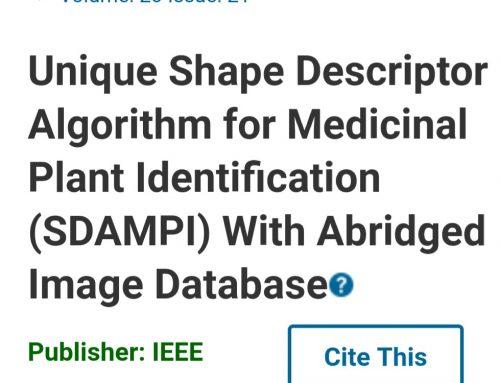 Unique Shape Descriptor Algorithm for Medicinal Plant Identification (SDAMPI) with Abridged Image Database
