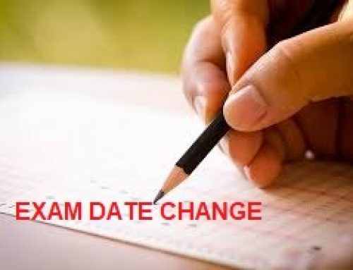 Revised schedule of exams on 26.11.2020 and 27.11.2020