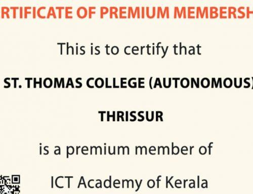 Certificate of Premium Membership: ICT Academy of Kerala